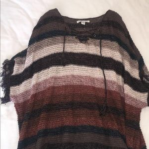 knitted- poncho top